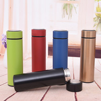 Wholesale tea warmers resale online - Custom logo oz ml Stainless steel insulated tea cup Slim tumbler for office business water bottle slim straight drinking cup with lid