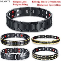 Men Women Fashion Health Energy Bracelet Men's 316L Stainless Steel Bio Magnetic Therapy Treatment Snoring Sleep Better