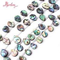 ingrosso pietre abalone-12x16.13x18mm Liscio Goccia Abalone Shell Beads Nautral Perline di Pietra Per DIY Collana Bracciali Monili Che Fanno 15