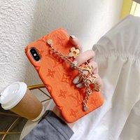 кожаный чехол оптовых-Люксовые бренды Конструктор телефонов Чехлы для Iphone 11 Pro Max 6 7 8 плюс хз Max XR моды Браслет Кожа PU брелок свободной DHL
