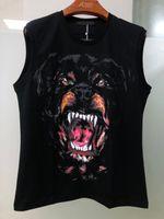 xxl robes de chien achat en gros de-Designer de luxe de vêtements pour hommes t-shirts à manches courtes pour hommes 3 d hip-hop gros chien collection d'animaux impression T-shirt robe Camisa Masculina designer
