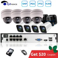 câmeras de vigilância ao ar livre dvr visão noturna venda por atacado-TySvance 8ch PTZ 5MP POE H.265 Sistema Kit 4X Zoom Óptico CCTV Segurança 16ch NVR Outdoor 2.8-12mm Indoor Camera IP Surveillance