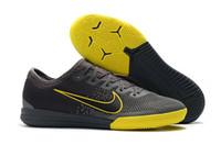 zapatos de fútbol profesional al por mayor-2019 zapatos de fútbol para hombre Mercurial VII Pro IC a prueba de agua CR7 botines de fútbol botas de fútbol de interior baratas nuevas scarpe calcio tamaño 39-46 Caliente