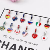 Wholesale pendant flags resale online - The World Flag Style Pendant DIY Charm Bracelet Accessories Colorful Handmade Women s Fashion Bracelets Gifts RRA2265