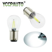 Wholesale car lamp bulb 1157 5w resale online - YCCPAUTO Bay15d P21 W LED Car Light Filament Chips Auto Vehicle Brake Light Car Reverse Parking Bulbs Lamp DC12V