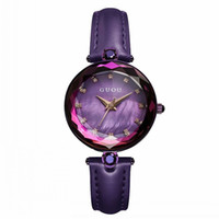 ingrosso orologi di moda coreani-GUOU Fashion New Women's Watch Trend Donna QuartzWatch Coreano Simple Strass Orologio da cintura impermeabile