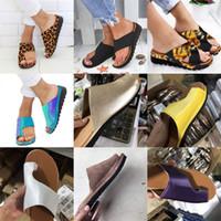 gelbe frühlings-sandalen großhandel-Frau sandalen tragen außerhalb hang ferse reine farbe pantoffel anwendbar frühling sommer gut verkaufen mit schwarz weiß gelb farben 21sx j1