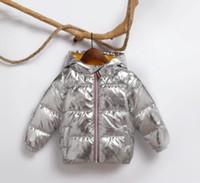 longo pérola para baixo casaco venda por atacado-2018 Jacket Crianças de Inverno para a menina Crianças prata Meninos de Ouro casaco com capuz Casual Roupas de bebê Casacos crianças Parka Jacket Snowsuit