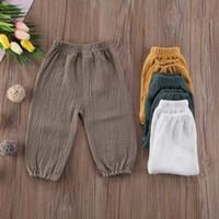 fondos chicos ropa niños al por mayor-Baby Kids Girl Boy Bottoms Pantalettes Arrugados Pantalones Bebés Pantalones largos sueltos Ropa