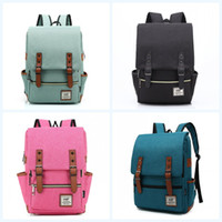 Wholesale vintage canvas art for sale - Group buy Canvas Backpack Vintage Knapsack Student Schoolbags Travel Fashion Large Personality Simple Large Capacity Hot Sale wj f1