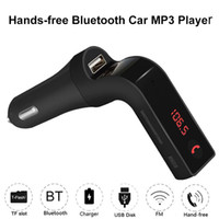 Wholesale power transmitters resale online - Hands free Bluetooth Car Kit FM Transmitter USB Charger Power Adapter MP3 Player