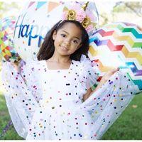 vestidos multicapa al por mayor-Vestido de hoja redonda y ligera Vestido de manga corta con cuello redondo Flying Princess Summer Mesh Pettiskirt Infant Designer 48