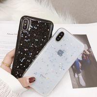 силиконовый блеск оптовых-Силиконовый Love Heart ТПУ чехол для iPhone XS MAX XR X iPhone 6s Plus Прозрачный чехол Shine Star Чехол для 6s 6s Plus iPhone 8 Plus XR Чехлы