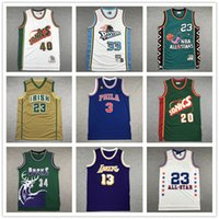 jersey kemp venda por atacado-High school LeBron James 23 Shawn 40 Kemp Gary Payton 20 Grant 30 Hil Wilt Chamberlain 13 Allen Iverson 3 Men Basketball Jersey