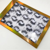 Wholesale hand book resale online - D pairs synthetic private label mm faux mink false eyelash book packaging in lash book