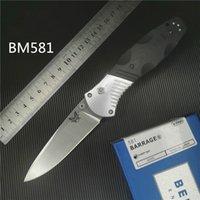 borboleta de bancada venda por atacado-Benchmade BM581 Osborne faca dobrável D2 AXIS-Assist Material do punho 6061 + G10 Camping instrutor Survival faca dobrável faca borboleta