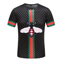 camisas venda por atacado-Camisas de alta Qualidade T Homens S Roupas Novas Camisas de Designer de Moda verão Moda Maré Camisa Animal Abelha Impressão Tripulação Pescoço Respirável