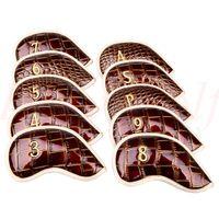 Casar Golf 10PCS 3#-Pw Alligator LeatherSet Golf Iron Club Covers Headcovers