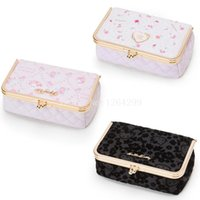 Wholesale melody case online – custom New Fashion Hello Kitty My Melody Little Twin Stars Girls Kids PU Cosmetic Bags Cases with Mirror For