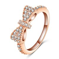 Wholesale butterfly platinum for sale - Group buy Engagement Rings Butterfly Shape with Zircon Inset Rose Gold Platinum Color Graceful Gift Jewelry for Wedding Party