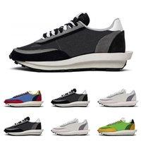кроссовки оптовых-2019 Sacai LDV Waffle кроссовки для мужчин женщин черный белый серый сосновый зеленый Gusto Varsity Blue мужские кроссовки модные спортивные кроссовки