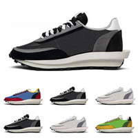 Wholesale women flat fashion canvas shoes for sale - Group buy 2019 Sacai LDV Waffle running shoes for men women black white grey pine Green Gusto Varsity Blue mens trainers fashion sports sneakers