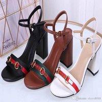 ingrosso sandali a cuneo 42-Nuova moda coreana selvaggio sandali tacco alto antiscivolo tendenza sexy confortevole in pelle di lusso tacchi alti numero 34-42 numero: 32