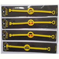 mädchen armbänder großhandel-Neue Silikon Armband Kinder Gelb Sport PVC Armband Mädchen Jungen Geburtstagsgeschenk Handschlaufe Heißer Verkauf 0 4ty Ww