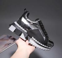 ingrosso nuovi scarpe da disegno per gli uomini-2019 Nuove donne scarpe casual da uomo design sneaker Sneakers super king Multicolor Sorrento Sneakers Moda uomo in pelle Comfort Party Shoes