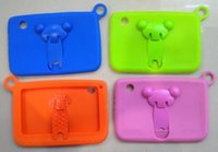 Wholesale Soft silicone stand case for Kids Tablet PC inch Quad Core children tablet Android A33 Q88 cover cases