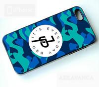 ingrosso caso blu 5c-Jake Paul E 'Everyday Bro Blue Camo Phone Case per Iphone 5c 5s 6s 6plus 6splus 7 7plus Samsung Galaxy S5 S6 S6ep S7 S7ep