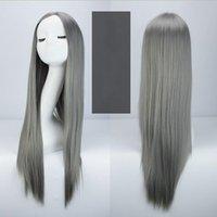 ingrosso capelli lunghi anime cosplay-Nuove donne di moda parrucca piena parrucca lungo rettilineo Cosplay Costume da donna Anime decorazione dei capelli