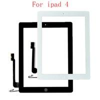 ipad2 digitalisierer großhandel-20Pcs Screen-Glas Digitizer Assembly Ersatz für iPad 2 iPad 3 iPad 4 Touch Digitizer mit Klebeband weiß schwarz
