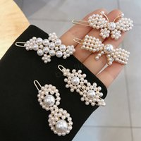 Wholesale mexican hair online – design Pearl Metal Gold Color Hair Clip Bobby Pin Barrette Hairband Hairpin Headdress women girls Lady Hair Styling Tool party favor LJJA2890