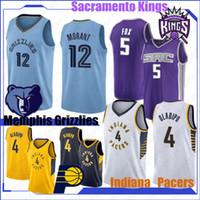 top-jersey-basketball großhandel-NCAA Ja 12 Morant 2019 20 Basketball-Trikots Victor 4 Oladipo DeAaron 5 Fox Marvin 35 Bagley Reggie Miller 31 Top-Qualität Basketball Shirt