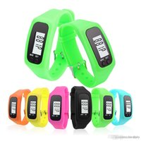 Wholesale calorie walking pedometer for sale - Group buy Digital LED Pedometer Smart Multi Watch silicone Run Step Walking Distance Calorie Counter Watch Electronic Bracelet Colorful Pedometers DHL