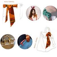ingrosso rayon del nastro-20 pz / lotto nuovo rayon seta piccole donne moda sciarpa borse per capelli maniglia decorazione cravatta multifunzione nastro a mano nastri