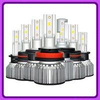 led h4 araba far ampulleri toptan satış-2PCS Car-Far-Ampüller H7 H4 LED Ampul 6500K 11000LM Led H7 H4 H11 H1 9005 HB3 9006 HB4 H8 9012 HB2 9003 Ampul 12V 100W