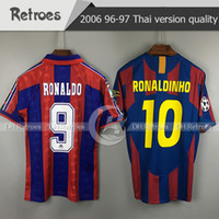 Wholesale xl football jerseys for sale - Group buy 1996 Ronaldo Retro Soccer jersey Guardiola Home Away Classic Thailand Quaersey Stoichkov RONALDINHO Football Shirt