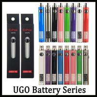 orijinal görüntü döndürücü piller toptan satış-Orijinal UGO V II V3 650 mAh 900 mAh Ego 510 Pil 8 renkler Mikro USB Şarj Geçiş O Kalem Vape Batterry Vs Görüş Spinner Hukuk