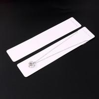 joyería china nuevo precio al por mayor-Nueva venta 500 unids 4 * 19 cm Tarjeta de joyería de moda de China Bonito collar de papel que muestra las etiquetas del precio de la tarjeta de empaque
