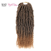 Wholesale grey ombre braiding hair for sale - Group buy Passion Twist Fluffy Crochet Hair for Women Crochet Braids BOMB TWIST USEFULHAIR Ombre Synthetic Braiding Hair Bomb Nubian Bounce Twist