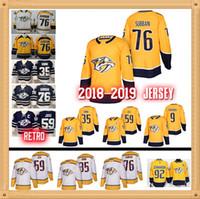 cb9ebdb9d Johansen New Nashville Predators jersey 9 Filip Forsberg 35 Pekka Rinne 59  Roman Josi 92 Ryan Johansen 76 PK Subban Hockey Jersey