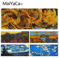 ingrosso tappetino di gomma del panno-MaiYaCa nuovi disegni van Gogh Grande Lockedge mouse pad PC Computer Tappetino di gomma Panno di blocco bordo Gamer Mousepad Mat