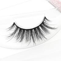 Wholesale good natural false eyelashes resale online - 3D056 False Eyelashes Good Quality Private Label d Mink Eyelashes D Real Mink Eyelashes