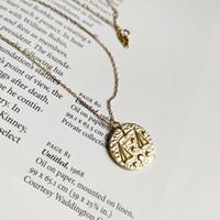 halskette zeichen großhandel-Neue Ankunft populäre 925 silberne Halskettenschmucksachen goldene Waage-Sternzeichenhalskette für Frauen und Männer für Geschenk und tägliches Tragen