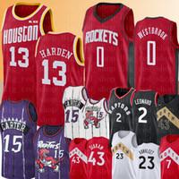 endurecer jersey al por mayor-NCAA 0 Russell Westbrook 13 Harden Jersey Colegio Vince Carter 15 Pascal 43 Siakam Fred 23 VanVleet 7 Lowry 2 Leonard jerseys