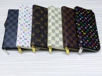 дамский белый простой кошелек оптовых-Бесплатная доставка !!! Классический стиль PU Leather мужские и женские кошельки с молнией кошельки N60017 (4 цвета на выбор)