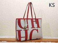 rote große handtaschen großhandel-2019 neue CH big letter designer handtasche handtasche roter boden luxurys marke verbund handtasche marke leder brieftasche big bag