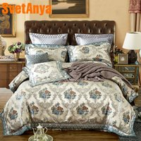 Wholesale western style beds online - Svetanya Western Style Jacquard Bedding Set Queen King Size Bedlinen Pillowcase or Cushion cover Sheet Duvet Cover Sets